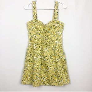 Free People Floral Bustier Mini Zip Dress